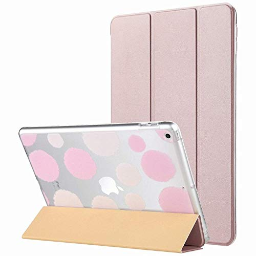 GZ Ipad 9.7 Zoll 2018 / Hülle, Ultra Slim Magnetic Auto Wake & Sleep-Funktion Smart Cover Trifold-Standbox Mit Designer-Hartschale Ipad 9.7 Zoll 2018 / Modell,Rosa,1