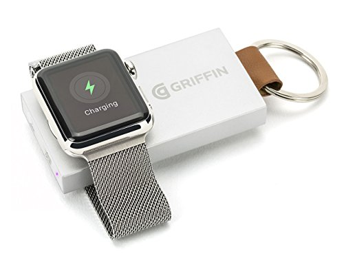 Griffin Tragbare Powerbank Kompaktes Ladegerät 1050 mAh für Apple Watch (38mm/42mm) - Aluminium