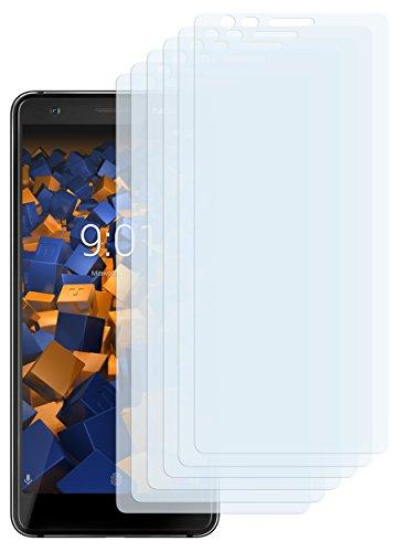 mumbi Schutzfolie kompatibel mit Nokia 3.1 2018 Folie klar, Bildschirmschutzfolie (6x)