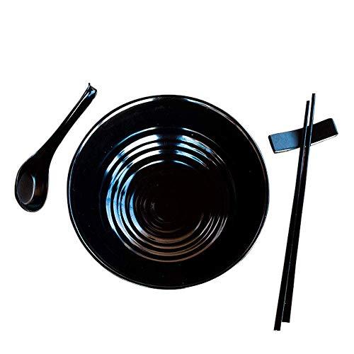 Schatz Gericht Zug (BB&ONE2 Ramen Schüssel-Set - asiatischer japanischer Stil mit Löffeln, Essstäbchen, Restaurant-Qualität, Melamin, Pho-Nudel, Udon, Thai-Geschirr für jede Suppenmahlzeit)