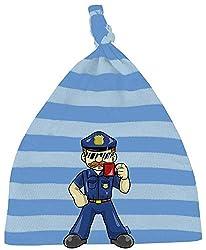 HARIZ Baby Mütze Knoten Streifen Polizist Cool Tasse Polizei Lustig Plus Geschenkkarten Blau/Himmel Hell Blau