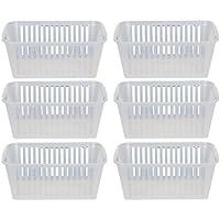 30cm Clear Plastic Handy Basket Storage Basket - Set Of 6