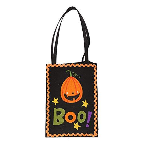 een Handtasche Trick or Treat Tragetaschen Süßigkeiten Taschen Aufbewahrungstasche Geschenkbeutel Boo! ()