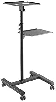 Cyber Steel Adjustable Projector and Laptop Floor Stand Trolley