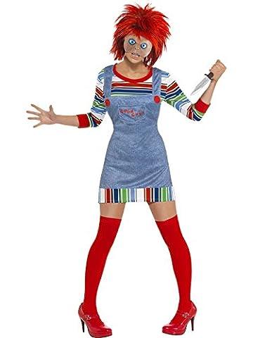 Chucky die Mörderpuppe Kostüm Halloween Horror Alptraum Chucky 2 Mörder Puppe Chuckykostüm (Chucky Die Puppe Kostüm)