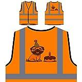 Alles Gute Zum Geburtstag Mops Personalisierte High Visibility Orange Sicherheitsjacke Weste r782vo