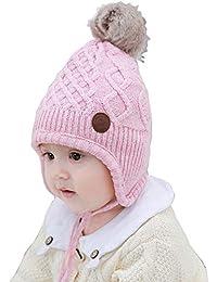 AHAHA Cappello Invernale per Bambina Pompon Cappelli Lavorati a Maglia e9dcbe0901ac