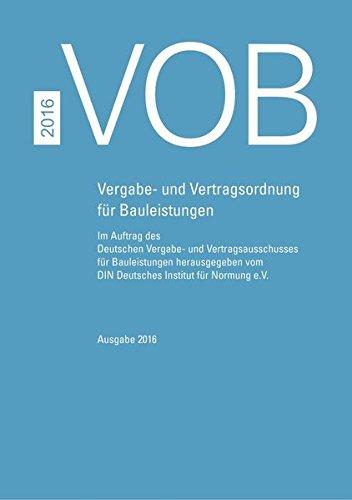 vob-2016-gesamtausgabe-vergabe-und-vertragsordnung-fur-bauleistungen-teil-a-din-1960-teil-b-din-1961