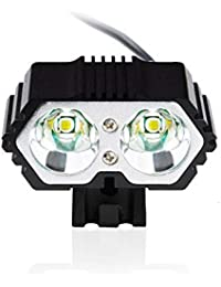 LED 6000lm 2 x cree xm-l t6 LED USB Fahrrad Scheinwerfer, Nourich Wasserdicht Fahrradleuchte Fahrradbeleuchtung, Fahrradlampe Fahrradlicht (schwarz)
