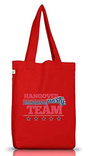 Junggesellenabschieds JGA Hochzeit Jutebeutel Stoffbeutel Hangover Party Drinking Team Red