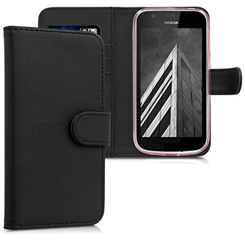 kwmobile Nokia 1 Hülle - Kunstleder Wallet Case für Nokia 1 mit Kartenfächern und Stand