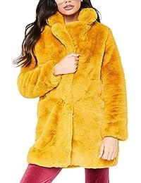 bb7de21fb5f4 Femmes Élégant Floue Avant Ouverte Survêtement Faux Manteau De Fourrure  Veste