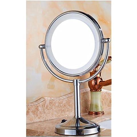 Spia cintura cosmetologia Specchio specchio di piegatura doppia faccia ha portato lo specchio specchio di tabella 8 pollici