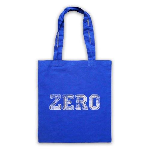 Zero Funny Slogan Tote Bag Blu