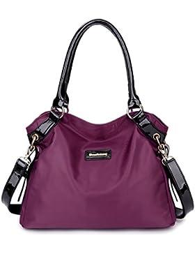 Eshow Damen Handtasche Umhängetasche Schultertasche Henkeltasche Shopper Damentasche Reisen Modern