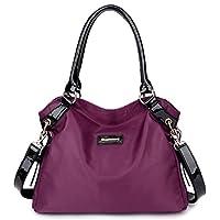 Eshow Bolsa de Mujer Bolsos de Bandolera de Hombro para Mujeres Bolsos Grande de Mano Bolsos Desigual de Viaje Shopper Marca Moda Púrpura