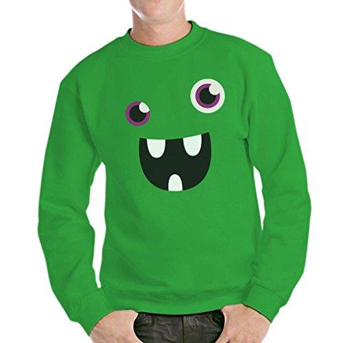 Sweatshirt Face Monster Lol - LUSTIG by Mush Dress Your Style - Herren-S-Grün