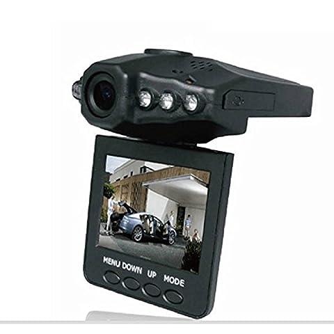 Lonshell 6,3cm TFT écran LCD Full HD 1280p Caméra de voiture véhicule Caméra, 120° Ultra Grand Angle Enregistreur vidéo, tableau de bord Cam support 270rotatif (Noir)