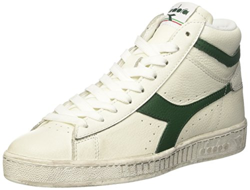 Diadora Unisex-Erwachsene Game L High Waxed Pumps, Elfenbein (Bianco/fogliame), 40.5 EU