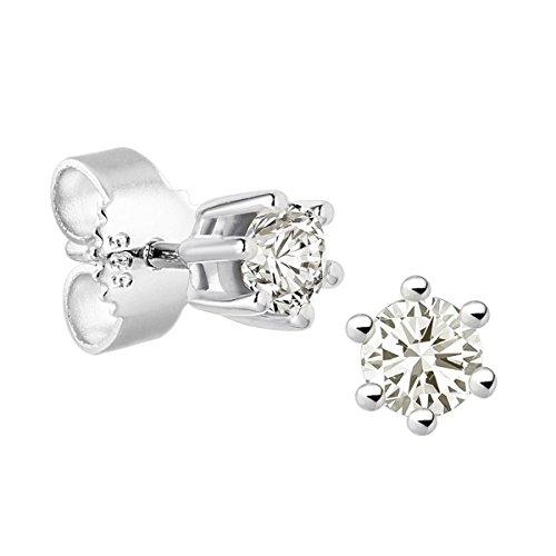 Diamond Line Damen - Ohrstecker 585er Gold 2 Diamanten ca. 0,30 ct., weißgold