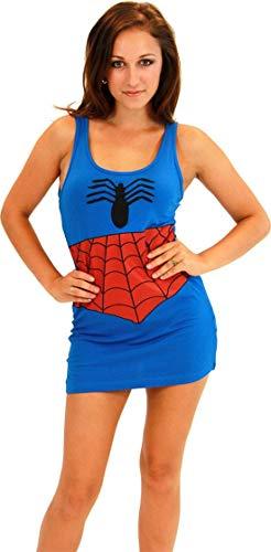 Marvel Comics Sexy Costume Tank Dress Adult: Spider Man Large (Marvel-comic-tank)