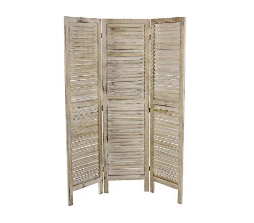 394502 Biombo de 3 paneles moderno mod. Clásico en madera natural 170