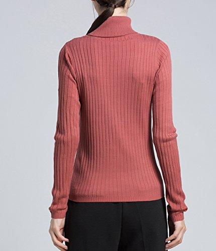 ELLAZHU Femme Automne&Hiver Col En V Manches Longues Pull À La Mode YY65 YY67 Rose