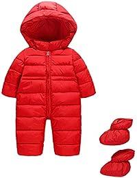 Bambino Tute da Neve con Scarpe Pagliaccetti con Cappuccio Inverno Body con Cerniera 9-24 Mesi
