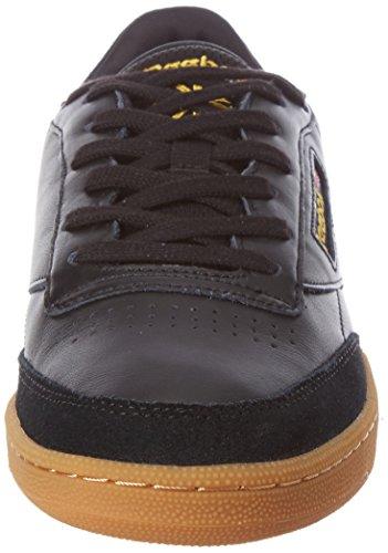 Reebok Scarpe Uomo Club C 85 TDG BD3068 Black/Retro Yellow-Gum Black