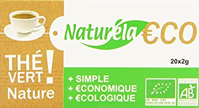 Naturela Thé Vert Nature Bio 40 g - Lot de 6