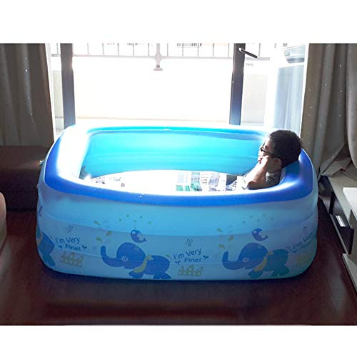 XF Aufblasbare Badewanne, tragbare Kunststoffbadewanne für Erwachsene, freistehende Badewanne, zusammenklappbare Badewanne, Luftpumpe, Babybecken, blau Freistehende Badewanne (Farbe : B1)