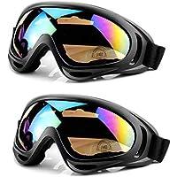 58d4519a80df12 MoyaLife Lunettes de Ski Masque de Snowboard,Lunette Conduite de Nuit,Moto  Lunettes Ski