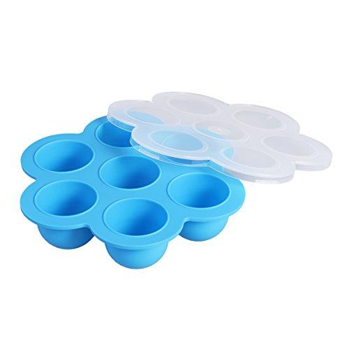 bestomz silicona huevo Bites moldes reutilizables comida y congelador bandeja de almacenamiento con tapa