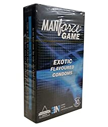 Manforce Game 3 In 1 Ribbed Dotted Contoured Condoms - 10 Pieces (Exotic)