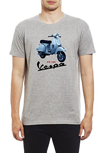 Vespa Scooter PX125 Men's Quality Heavyweight T-Shirt