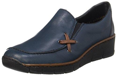 Rieker Damen 53783 Slipper, Blau (pazifik/brandy/pazifik), 40 EU