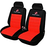 WOLTU AS7257-2 Housse de siège de voiture universelle pour 2 sièges,Noir Rouge