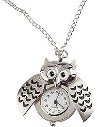 TRIXES Reloj Collar de Búho Colgante Diseño Moderno