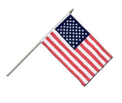Drapeau USA sur hampe, drapeau américain, 30 x 45 cm, MaxFlags®