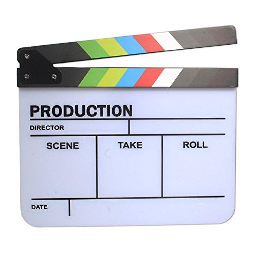 Dopobo Acryl Regie Klappe Regieklappe Filmklappe Film (Kostüme Hollywood Spielzeug Und)