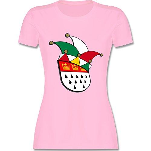 Karneval & Fasching - Köln Wappen Narrenkappe - tailliertes Premium T-Shirt  mit Rundhalsausschnitt für