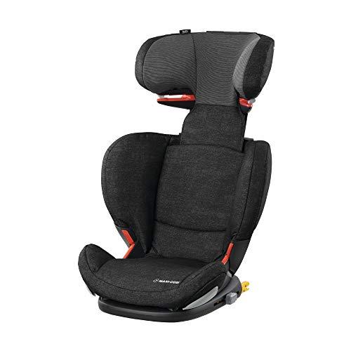 Maxi Cosi RodiFix AirProtect (AP) Kindersitz Gruppe 2/3, ISOFIX-Sitzerhöhung, optimaler Seitenaufprallschutz, 3,5 - 12 Jahre, 15 - 36 kg, (schwarz) Nomad Black