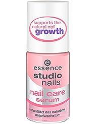 Sérum essence Studio Nails Nail Care–Soutient la croissance ongles naturel Contenu: 8ml Huile Sérum à ongles avec Vitamine E, à l'huile de jojoba et d'amande et Glycérine pour l'humidité. Soin des ongles Sérum