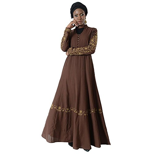 Gold Embroidered Button Eid Abaya+Hijab