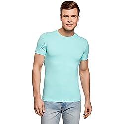 oodji Ultra Hombre Camiseta Sin Etiqueta Básica (Pack de 3), Multicolor, ES 50/M
