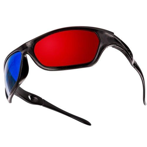 SODIAL (R) 5x Rot und Blau Anaglyphen Dimensional 3D Vision Brille fuer TV Movie DVD-Spiel