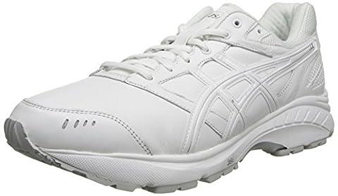 Asics Gel-foundation Walker 3, Chaussures de marche nordique pour homme multicolore blanc/argenté - blanc - blanc/argenté, 40 4E EU
