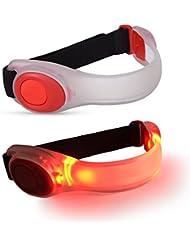 PETLESO LED Sport Armband Sicherheits LED Blinklicht für Laufen oder Radfahren LED Armband für Nacht für Party Konzert