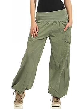 Zarmexx Damas Bloomers el Harem Pantalones del Verano de los Pantalones de Harén Pantalones de Algodón Holgados...