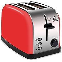 LATITOP Automatik-Toaster,Rot 2-Scheiben Toaster mit Breiter Steckplatz, herausnehmbarem Krümelschublade, Hoher Hubhebel für kleine und große Brotscheiben Bagels(850W)